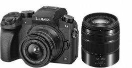 Panasonic Lumix DMC-G70 DZ-Kit G Vario 3,5-5,6 / 14-42 mm & Telezoom Vario 4,0-5,6 / 45-150 mm OIS schwarz