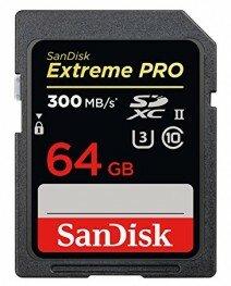 SanDisk 64 GB SDXC ExtremePro 300MB/s