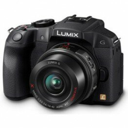 Panasonic Lumix DMC-G6X Kit inkl. Lumix G X Vario Pancake-PZ 3,5-5,6 / 14-42 mm schwarz