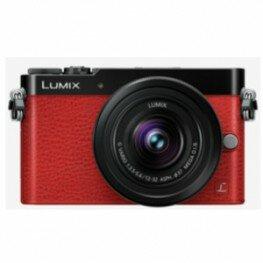 Panasonic Lumix DMC-GM5 Kit inkl. Lumix G Vario 3,5-5,6 / 12-32 mm Asph./O.I.S. schwarz/rot