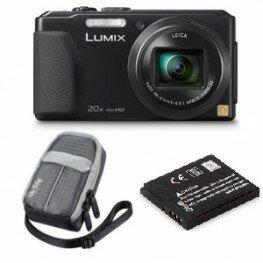 Panasonic DMC-TZ41 schwarz Sparset mit Tasche und Akku